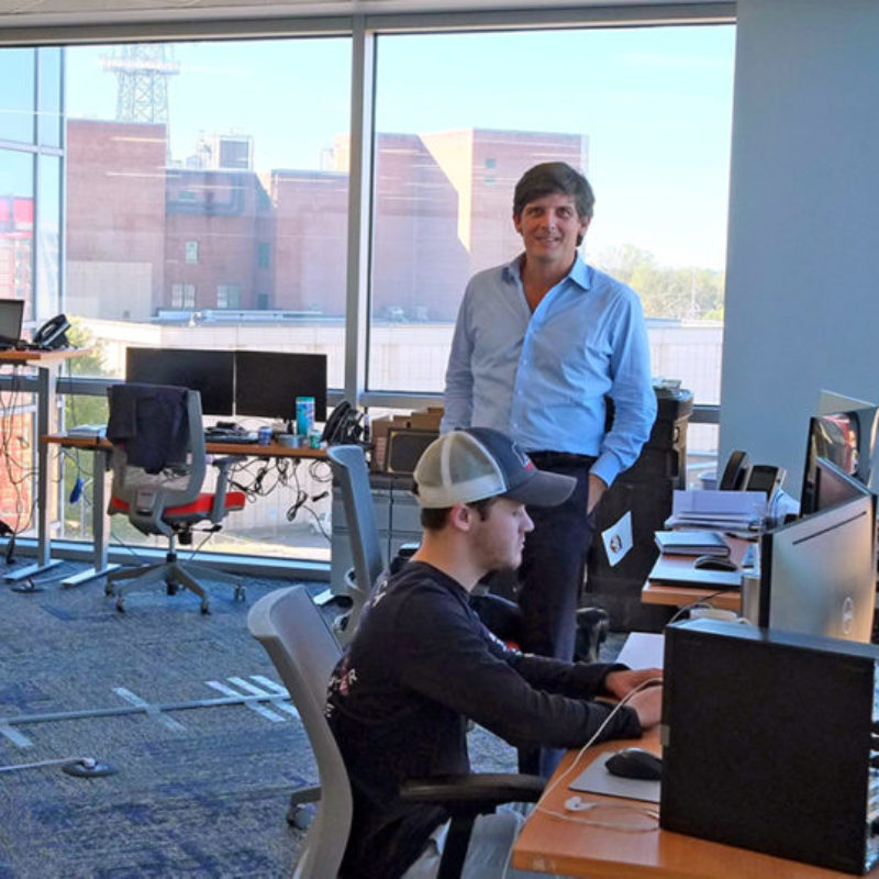 CEO Woody Rich working with Software Developer John Rendleman